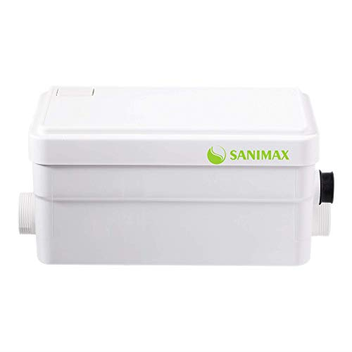 Sanimax SANI250 Hebeanlage Sehr Leise Pumpe Abwasser Haushaltspumpe Duschpumpe mit 2 Einlässen 250W