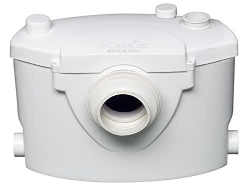 Planus Broysan 4 Fäkalienhebeanlage, WC-Förderanlage, Anlage zum Fördern von Schmutzwasser aus der Toilette, TUV Zertifizierung- Max Wasser Temp. 50°, 420Watt, 220-240 Volt, Made in Italy