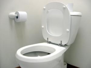 Toilette mit Hebeanlage