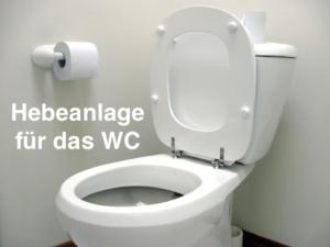 Hebeanlage WC