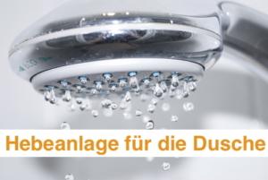 Hebeanlage für die Dusche