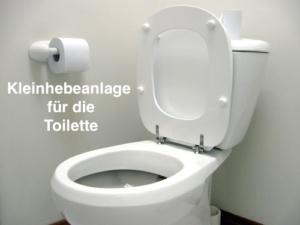 Kleinhebeanlage für die Toilette