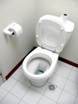 Toilette mit Klopapier
